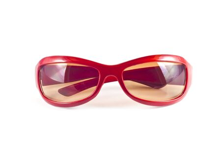 Red sunglasses isolated on white  background Stock Photo - 10026174