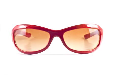 Red sunglasses isolated on white  background Stock Photo - 10026175