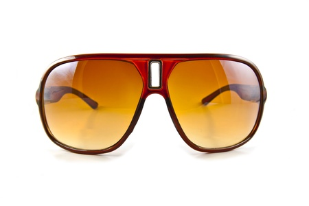 Brown sunglasses isolated on the white background Stock Photo - 10026198