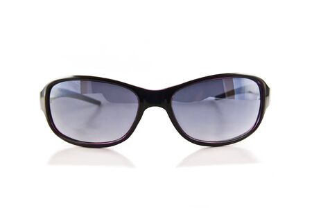 Black sunglasses isolated on the white background  Stock Photo - 10026178