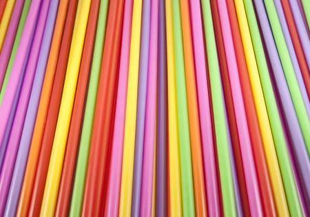 colorful of straws background