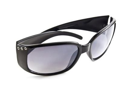 Black sunglasses isolated on the white background