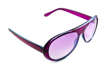 Pink sunglasses isolated on white background
