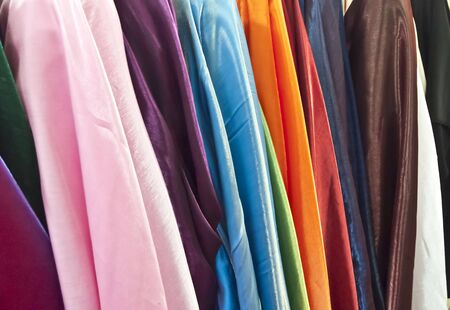 Stock Photo: The color of Fabric textile abstract background