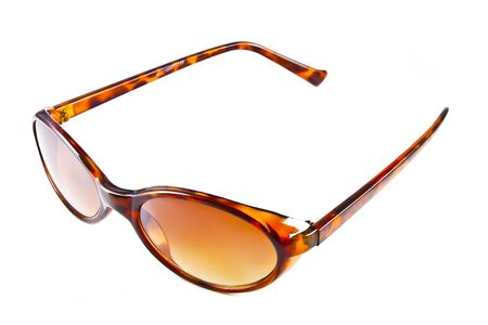 Brown sunglasses isolated on the white background  Stock Photo - 10057113