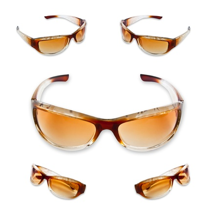 Set of brown sunglasses isolated on the white background Stock Photo - 10057123