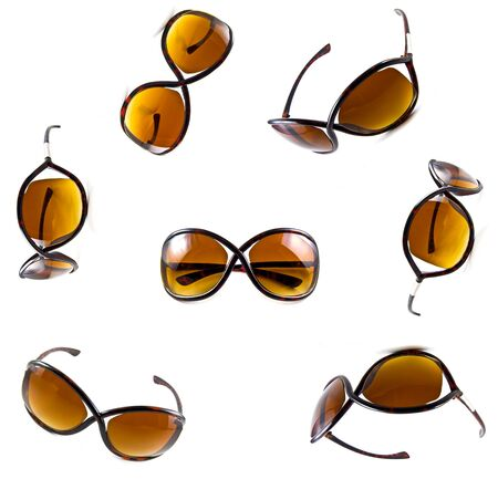 Set of brown sunglasses isolated on the white background  Stock Photo - 10057122
