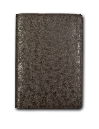 Un livre brun isol� sur fond blanc Banque d'images