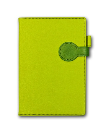 A green book isolated on white background   Stock Photo
