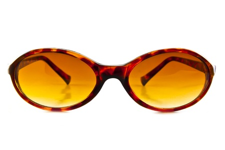 Brown sunglasses isolated on the white background