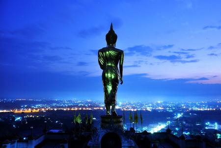 Buddha before sunrise photo