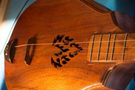 thai musical instrument: Close up vina, stringed instruments.
