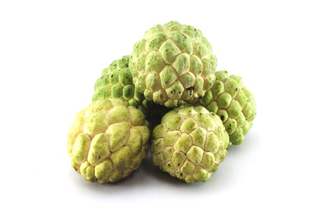 custard apples: Custard apples group on white background with isolate.