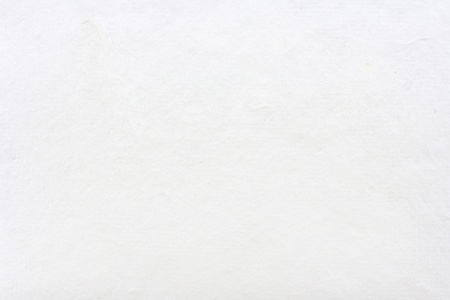 a white background: White mulberry paper made by hand Stock Photo