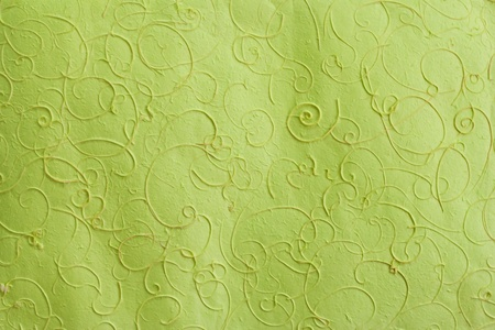 Green mulberry paper with line pattern background