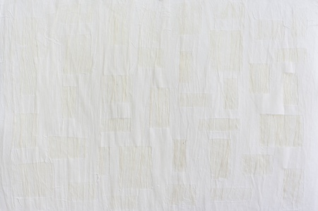 White mulberry paper with rectangle texture background.