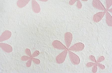 White mulberry paper include line soft pink flower art background. Stock Photo - 12898640