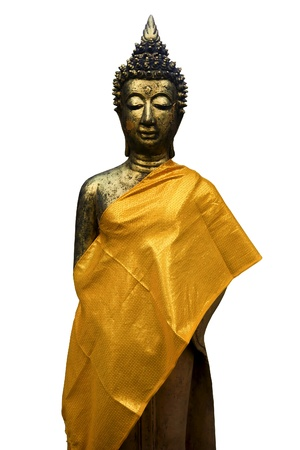 Buddha statue standing with isolated against white background