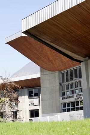 Font of Modern Building in Grenoble University France