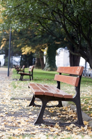 royalty free photo: Chair at the park in Grenoble, France