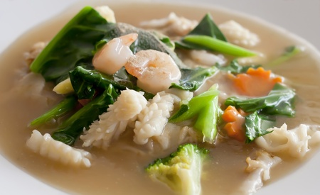 Lad Nah Shrimp Noodle Thai food in Thai Restaurant  photo