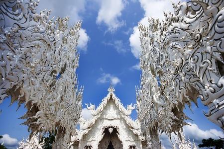 Font of Thai temple at Chiang Rai, Thailand  photo