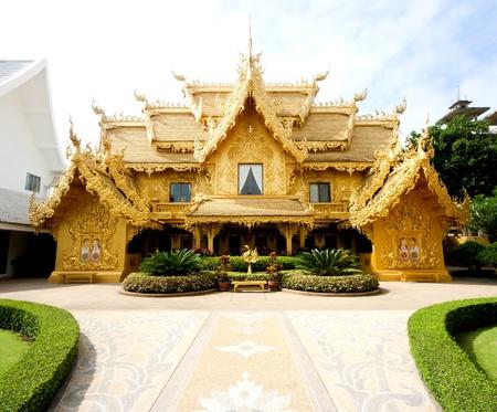 Font view of Wat Rong Khun at Chiang Rai Province, Thailand