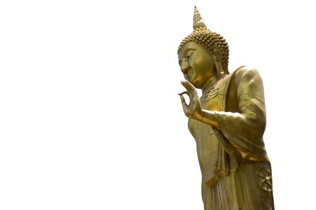 idolatry: Left side of the golden Buddha in Wat-Che Yod, Chiang Mai - Thailand