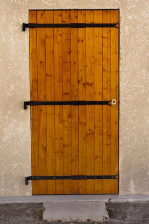 France wooden door with wrought iron elements  photo