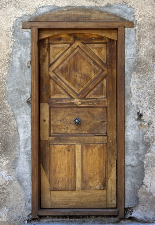 Medieval style door in Grenoble, France  Stock Photo