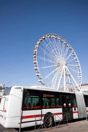 millennium wheel: Ferris Wheel in Lyon, France