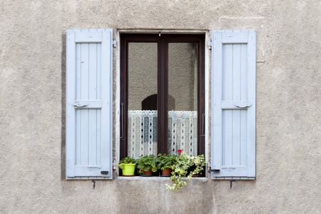 Lovely Window box flower arrangement, Sassenage, France   photo