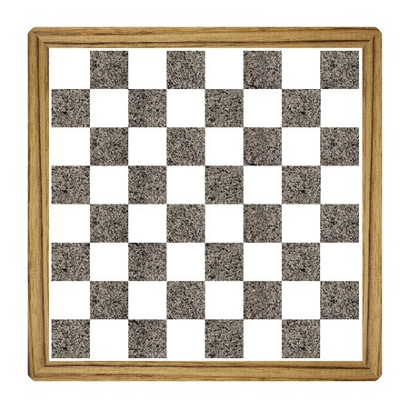 Chess board  isolated over white background.