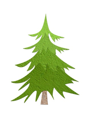 Mulberry paper Christmas tree and white background Stock Photo - 16169185