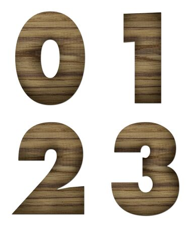Teak wood 0-3 blocks with letters and numbers  photo