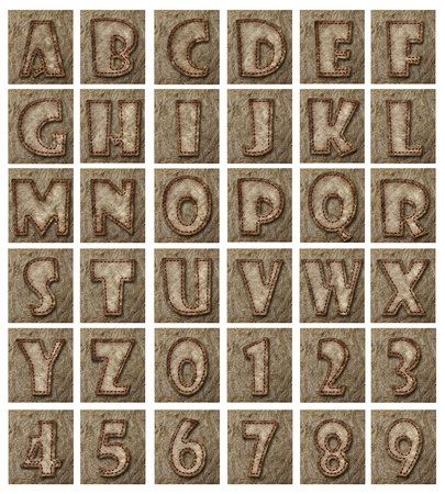 Mulberry paper Alphabet(A-Z)  and Number(0-9). photo