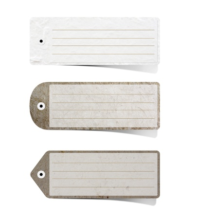 Mulberry paper Labels on white background