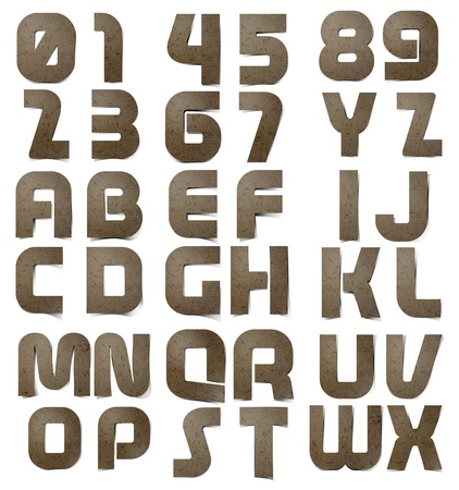Mulberry paper Alphabet A-Z  and Number 0-9    photo