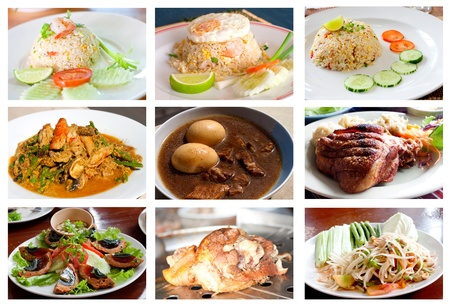 Photographs Collection of Thai food   photo