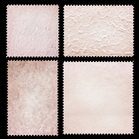 Set of stamps tempate mulberry paper isolated. photo