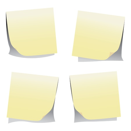 Stick note isolated on white background, Stock Photo - 17677550
