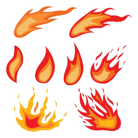 Fire symbols  Stock Photo - 17885039