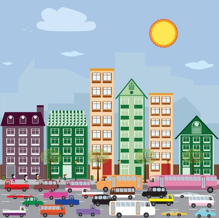 gentrification: Townhouses in the city  Stock Photo