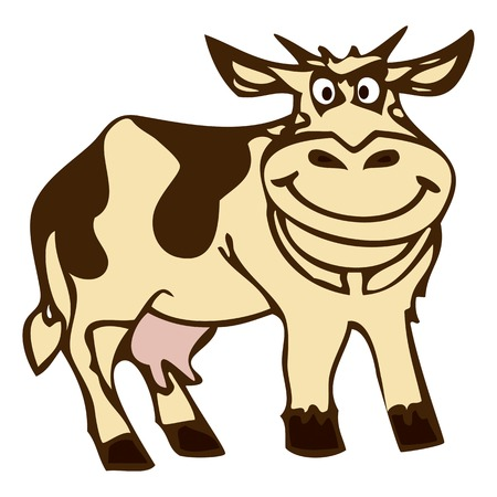 Cow Illustration Graphic. Vector