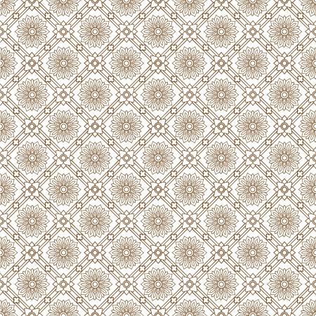 Line thai art pattern  illustration. Illustration