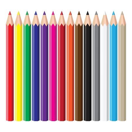 pencil set: Coloured pencils. Illustration