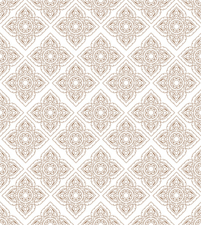 Line thai art pattern illustration. Vector