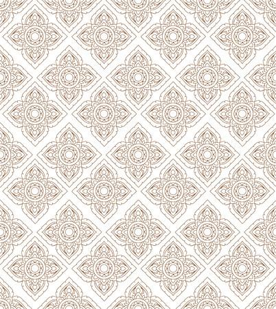 line of art: Line thai art pattern illustration.