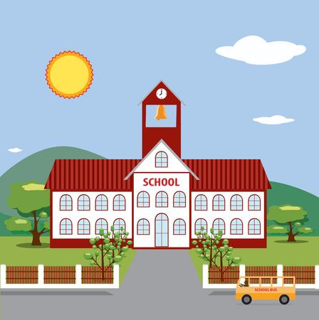 Ilustración de la Escuela. Foto de archivo - 22711454