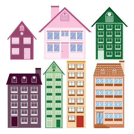 Houses collection. Vector